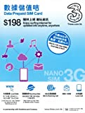 3 HK Data Prepaid SIM Card 8 for iPhone 5 nanoSIM- 香港SIM 並行輸入品