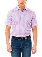 McGregor Camisa Hombre Gil Smith Bt Nbd Rf Ss (Rosa / Azul)