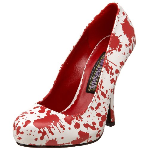 Funtasma by Pleaser Women's Bloody-12 Pump,White Patent/Red,8 M US