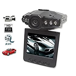 ZVision 6 IR LED 720p HD Car DVR Portable Mobile DVR Video Camera Camcorder with LCD Screen