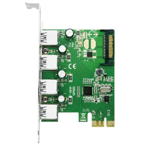 エアリア 4WING2 PCI Express x1 接続 USB3.0 4ポート renesasD720201チップ搭載 SD-PEU3R-4E