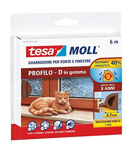 tesa-05393-00111-00-guarnizione-in-gomma-per-porte-e-finestre-profilo-d-marrone