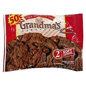 Grandma's Big Cookie, Fudge Choc Chip, 2.5-Ounce Packages (Pack of 60)