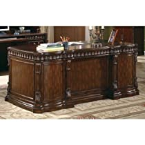 Hot Sale Union Hill Double Pedestal Desk with Leather Insert Top