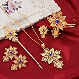 Newest-Ethiopian-Cross-Necklace-Pendant-Bangle-Earring-Ring-Hairpin-Set-24k-Gold-Plated-Habesha-Jewelry-Sets
