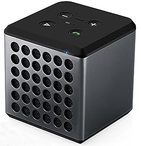 EasyAcc® Music Cube Bluetooth Lautsprecher 20 std. Wiedergabedauer mit Mikrofon und Bass(schawrz)