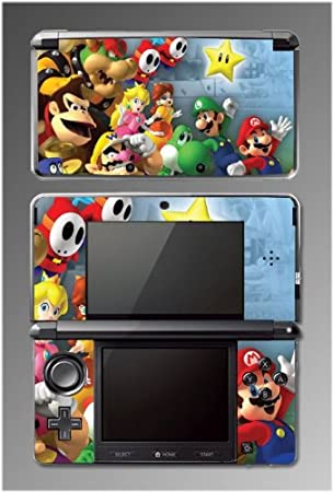 New Super Mario Bros. Game Vinyl Decal Cover Skin Protector 9 for Nintendo 3DS