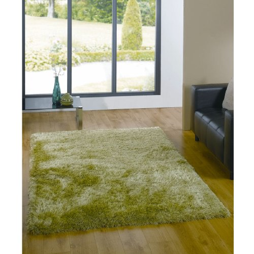 Flair Rugs Santa Cruz Shaggy Summertime Rug, Soft Green, 80 x 150 Cm