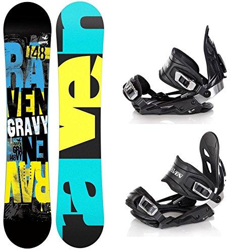 Snowboard Set: Snowboard Raven Gravy Gullwing + Bindung Raven s400 Black M/L