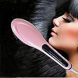 Haarglätter-Bürste,Anion Instant-Magie seidige gerade Haar Styling,LDream® Anti Scald Anti statische Keramik Heizung Entwirren Haar Entwirren Haar-Bürste Elektrische Kamm Glätteisen Haarglätter Bürste ion Glätten Haarbürste Warmluftbürste Hair Straightener Comb LCD EU Stecker Verbesserte