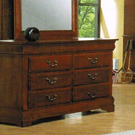 Storage Dresser Louis Phillipe Style Medium Brown Finish