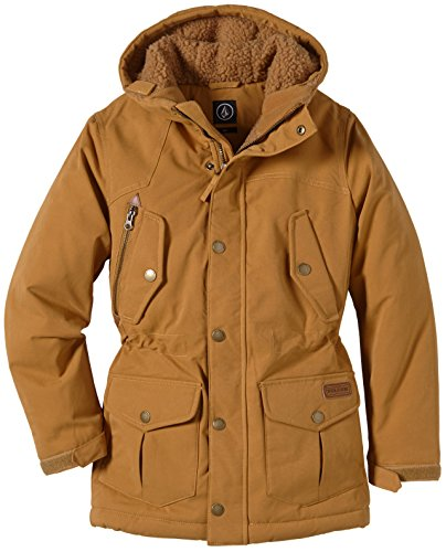 Volcom, Parka Starget Bambino, Marrone (Bear Brown), S