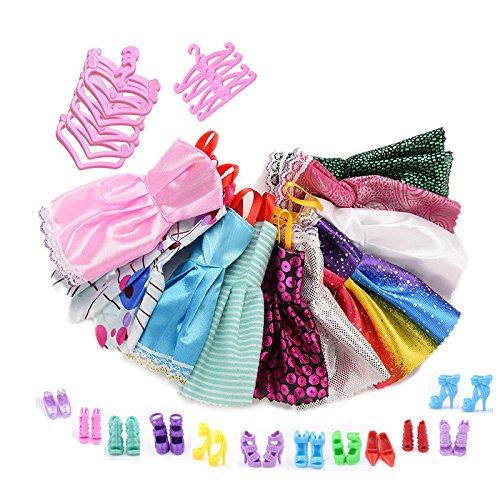 asivr-ensemble-36-pieces-de-jouets12-vetements-et-12-chaussures-et-12-cintrespour-poupee-barbie
