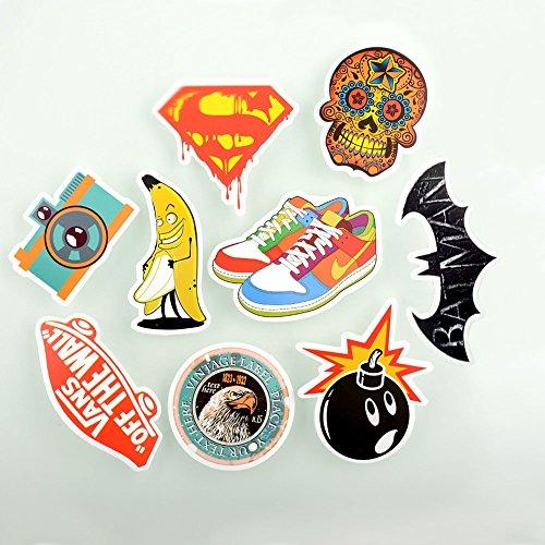 Factory sale langsung pack 50 stiker skateboard snowboard panenan taun vinyl sticker corétan laptop bagasi car