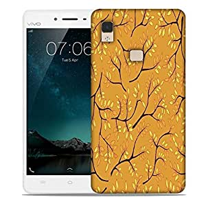 Snoogg a seamless pattern with leaf Designer Protective Back Case Cover For Vivo V3 Max