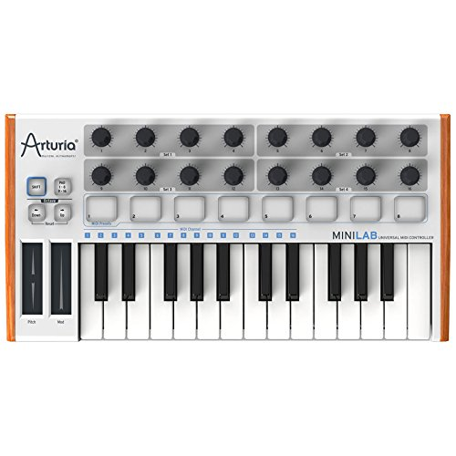 Arturia MiniLab 230401 25-Key Mini USB/MIDI Keyboard Controller with Software