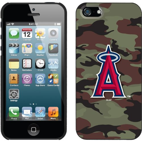 Special Sale LA Angels of Anaheim - Traditional Camo design on a Black iPhone 5 Thinshield Snap-On Case by Coveroo