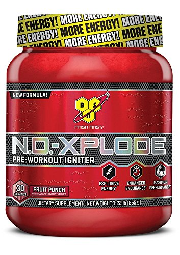 BSN N.O. Xplode-555g Frutta Punch-Pre Workout (nuovo 2014)