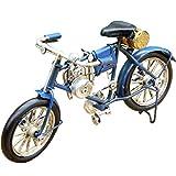 レトロクラシック モーターバイシクル ブリキバイク 自転車 ビンテージ ダメージ加工
