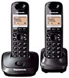 Panasonic KX-TG2512ET DECT Twin Digital Cordless Phone Set - Black