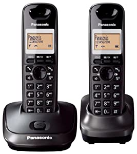 Panasonic KX-TG2512ET DECT Twin Digital Cordless Phone Set - Black