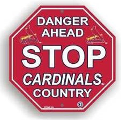 Stop Sign - MLB Baseball - St. Louis Cardinals ''Danger Ahead'' Stop Sign - MLB Baseball - St. Loui at Amazon.com