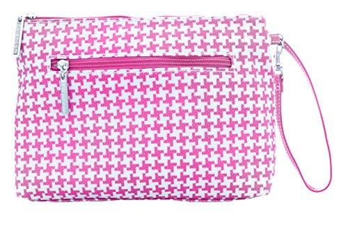 Kalencom Diaper Bag  (Houndstooth- Pink)