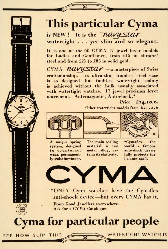 1956-ad-cyma-watch-wristwatch-navy-star-cymaflex-original-print-ad
