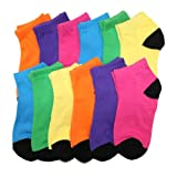Angelina Dozen-Pack COTTON Low Cut Socks, #2305_BNEO_9-18