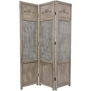 Oriental Furniture Distressed Finish Decorative Floor