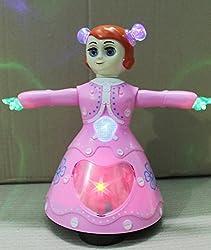 3D Light Music Dancing Girl Robot Gift Toy For Kids (Multi-color)