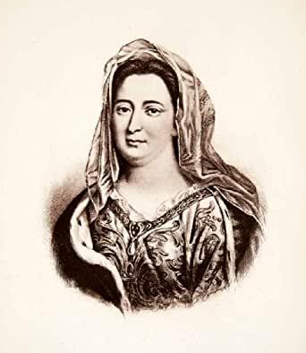 Amazon.com: 1893 Photogravure Portrait Francoise d'Aubigne
