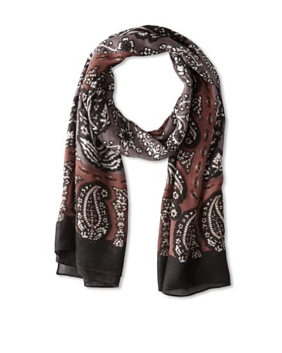 Theodora & Callum Women's Topeka Wearable Art Scarf, Black Multi, One Size