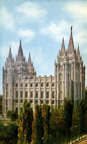"Mormon Temple, Salt Lake City - Fine-Art Gicle Photographic Print - 8""x10"" Enlargement from a Clas"
