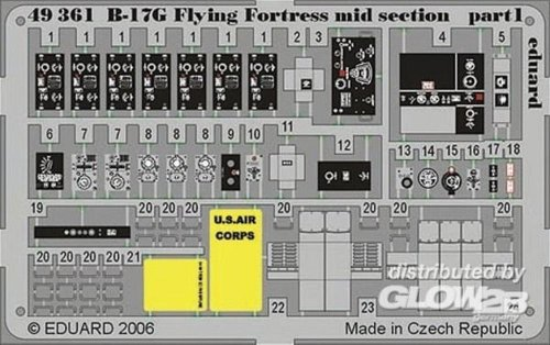 1/48 Photo Etch Set B17G Flying Fortress Mid RMX EDU49361