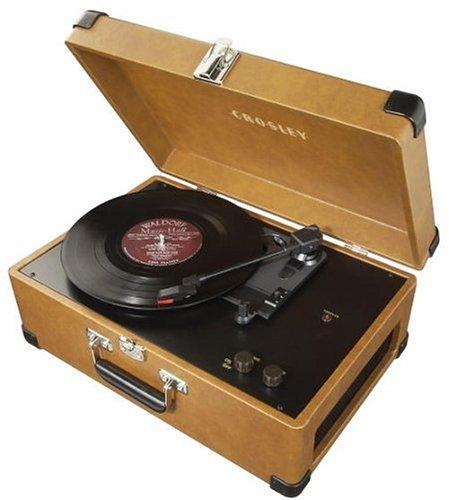 Crosley CR49 Traveler Portable Turntable, Tan