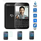 PopSky  BlackBerry Classic Q20 強化ガラスフィルム,採用0.3mm 強化ガラス フィルム ラウンドカッティング 硬度9H ラウンドエッジ加工,  BlackBerry Classic Q20 耐指紋、撥油性 高透過率液晶保護 (Blackberry Q20 強化ガラスフィルム)