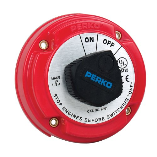 Perko Medium Duty Battery Disconnect Shut Of For On - 250 Amp Continuous, 12-32Vdc