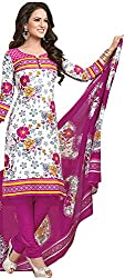 Tripssy Women's Cotton Printed Unstitched Salwar Suit (fb_dm_28, Yellow)