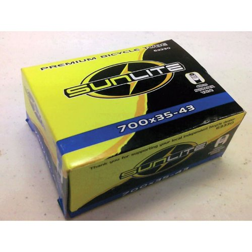 Sunlite Bicycle Tube, 700 x 35-43 SCHRADER Valve, 48mm
