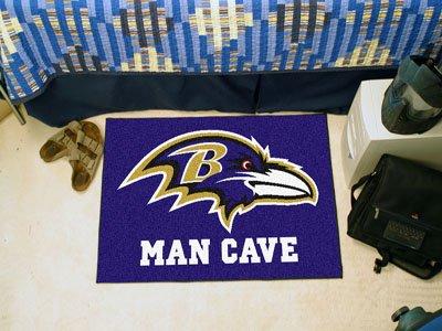 "Baltimore Ravens Man Cave Starter Rug 19""x30"" - FAN-14269"