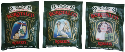 Roberts: Borotalco® Talc Powder * Limited Edition! * (Box of three 100 G - 3.5 Oz Envelopes) [ Italian Import ]