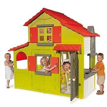 Casetta per bambini smoby floralie a due piani le for Casette per bambini