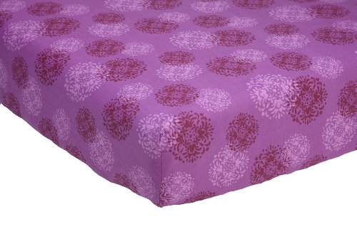 NoJo Crib Sheet, Pretty In Purple (Discontinued by Manufacturer) - 1