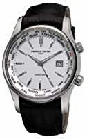 Frederique Constant Men's FC255S6B6 Classic Silver Dual Time Zone Dial Watch from Frederique Constant