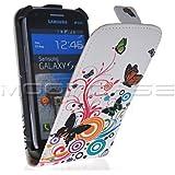 MOONCASE Custodia in pelle Protettiva Flip Case Cover per Samsung Galaxy S Duos S7562
