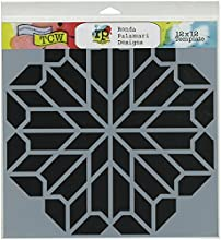 Crafters Workshop Chrysanthemum Crafter39s Workshop Template 12-Inch by 12-Inch