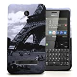 Accessory Master 5055716366587 Hard Protective Case for Nokia Asha 210 with Eiffel Tower and Garden Motif