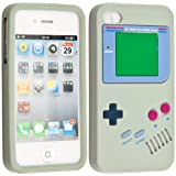 kwmobile Silikon H�lle Case f�r Apple iPhone 4 / 4S mit Gameboy Design - Handy Cover Schutzh�lle in Grau