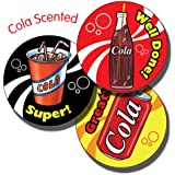Primary Teaching Services Ltd X6 - Sheet of 35 Mixed Wording 37mm Cola Scented Stickers